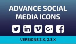 Advance Social Media Icons