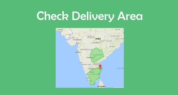 Check deliverable locations using google map