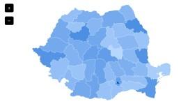 Admin dashboard - Romania map