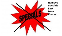 Remove Specials Link from Footer