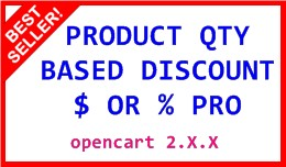 PRODUCT QTY BASED DISCOUNT $ OR % PRO 2.X.X