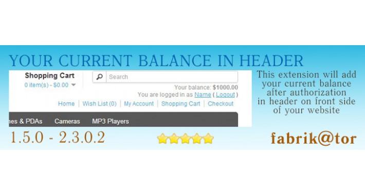Balance in header