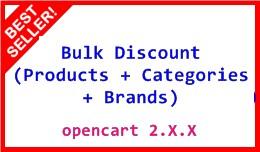 Bulk Discount (Products+Categories+Brands) 2.X.X