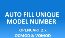 Auto Fill Unique Model Number
