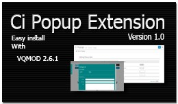 Ci Popup Extension Version 1.0