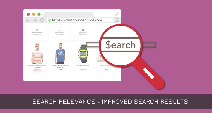 Search Relevance - Improved search results - OC2.x-3.x