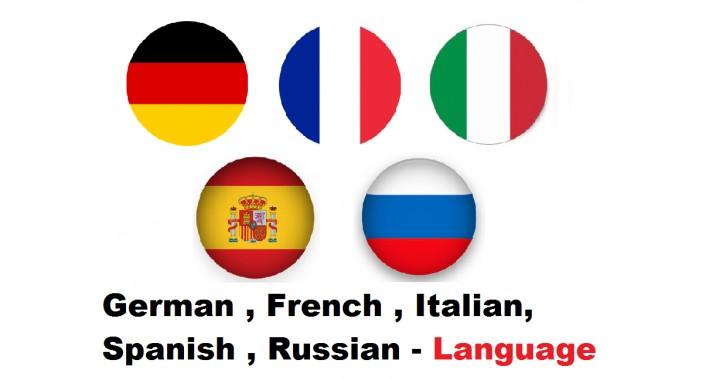 German French Italian Spanish Russian OC2x