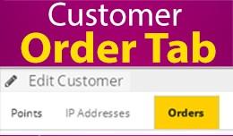 Customer Order Tab