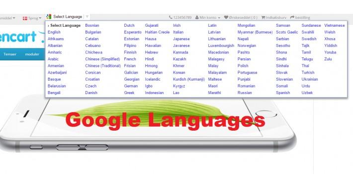 Google Languages OC3x
