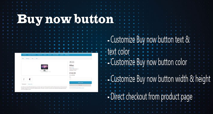 Customize Buy now button on product  page
