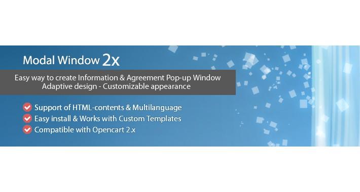 Modal Window 2x - Information & Agreement Pop-up window