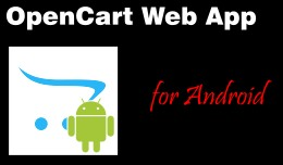 OpenCart Web App - For Android