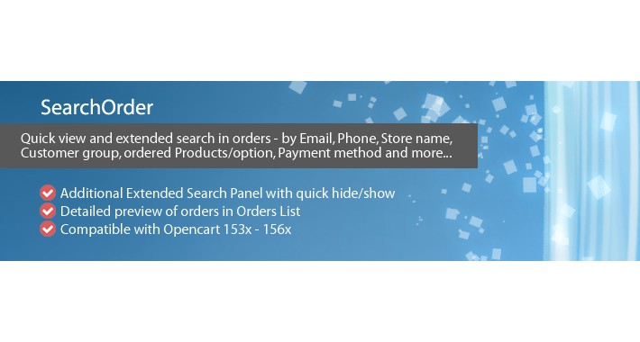 SearchOrder - Quick view and Extended Search in Orders