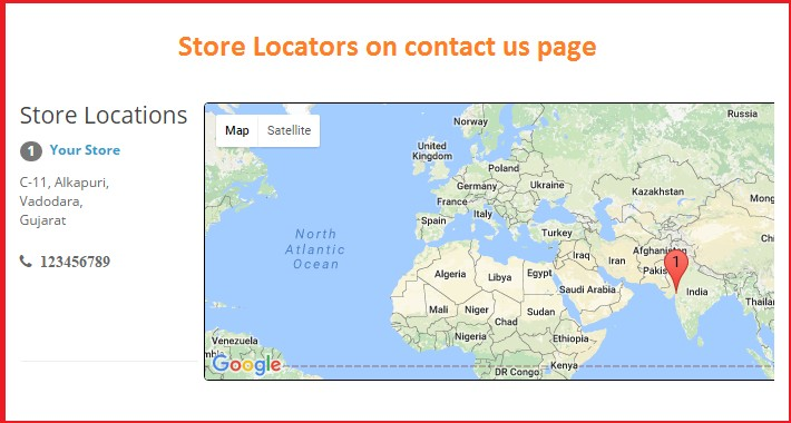Store locator with markers