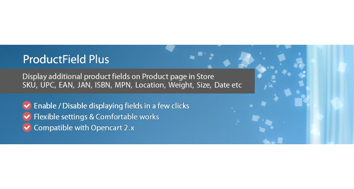 ProductField+ show additional fields on Product page in Store