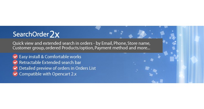 SearchOrder 2x - Preview and Extended Search in Orders