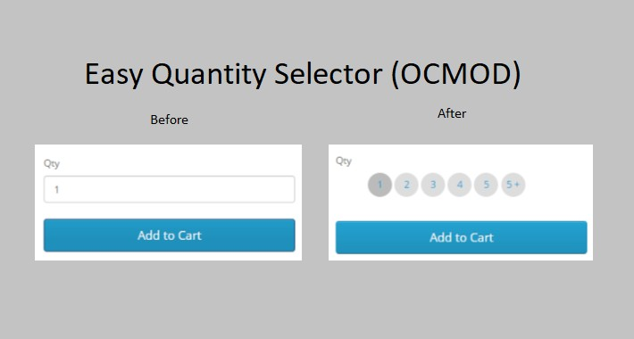 Easy Quantity Selector - OCMOD