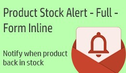 Product Stock Alert - Full - Form Inline