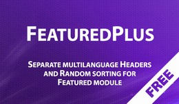 Featured Plus - improved Featured module