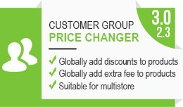 Customer Group Global Price Changer
