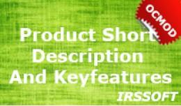Product Short description and Keyfeatures (OCMOD)