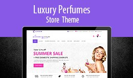 Responsive Clean  Luxury Perfumes Store Theme