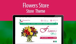 Responsive Clean Flowers Store Theme