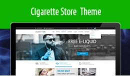 Responsive Clean Cigarette Store Theme