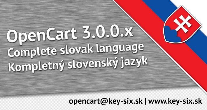 SLOVAK LANGUAGE / SLOVENČINA / OPENCART 3.0.0.x