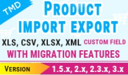Tmd import and export Multilanguage (1.5.x , 2.x..