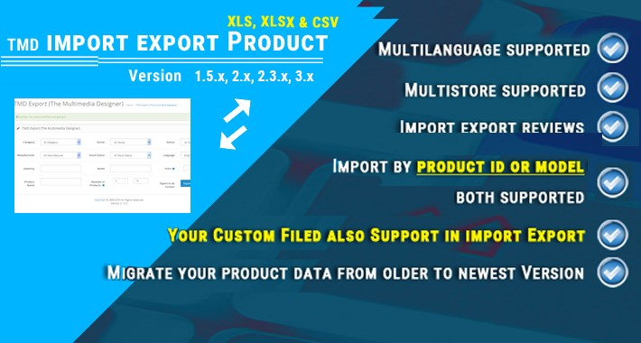 Tmd import and export Multilanguage (1.5.x , 2.x & 3.x)