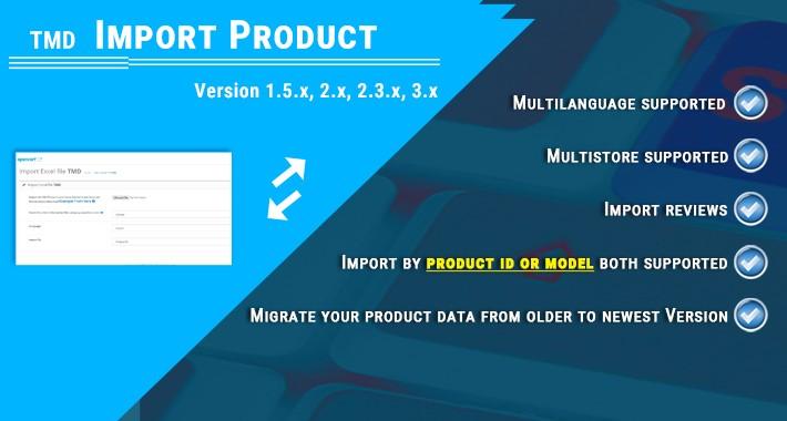 opencart xls import  (1.5.x , 2.x & 3.x)