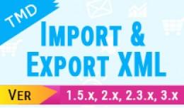 Import and Export XML ( 1.5.x ,2.x & 3.x)