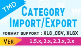 TMD Category Export / Import (multilanguage)