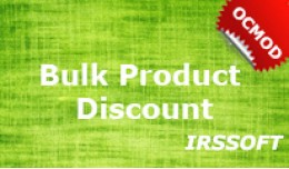 Bulk Product Discount(ocmod)