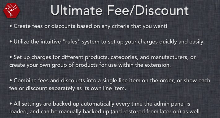 (2.x/3.x) Ultimate Fee/Discount