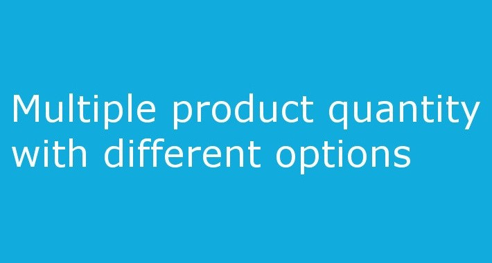 Multiple product quantity with options