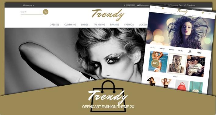 Trendy fashion responsive opencart 2.X theme
