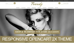 Trendy fashion responsive opencart 2.X theme