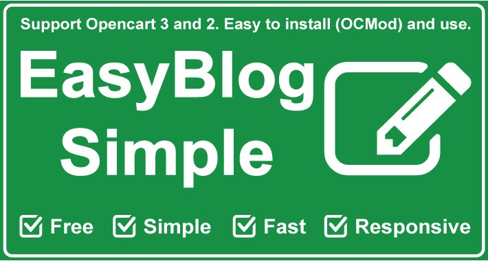 Blog system for OpenCart - Easy Blog Simple