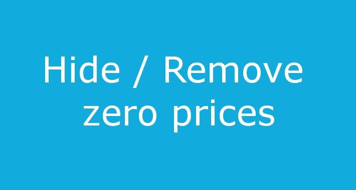 Hide zero prices