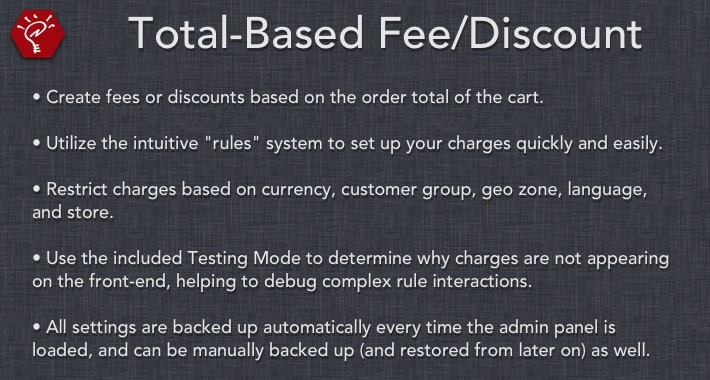 (2.x/3.x) Total-Based Fee/Discount