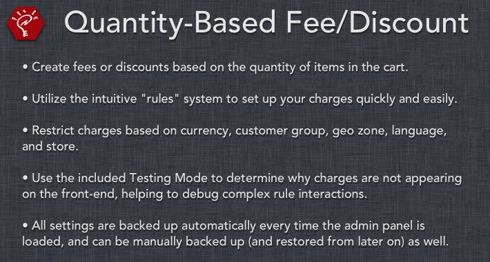 (2.x/3.x) Quantity-Based Fee/Discount