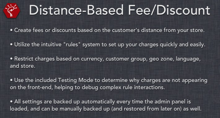 (2.x/3.x) Distance-Based Fee/Discount