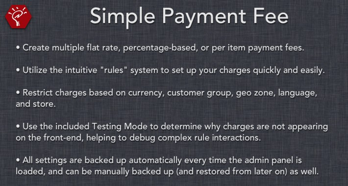 [OLD] Simple Payment Fee