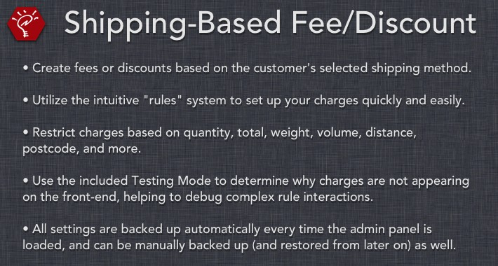 [OLD] Shipping-Based Fee/Discount