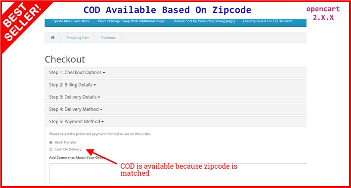 COD Available Based On Zipcode