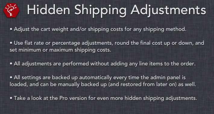 [OLD] Hidden Shipping Adjustments