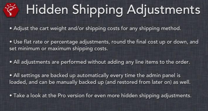 (2.x/3.x) Hidden Shipping Adjustments
