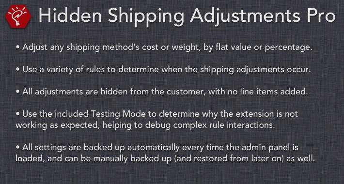 [OLD] Hidden Shipping Adjustments Pro